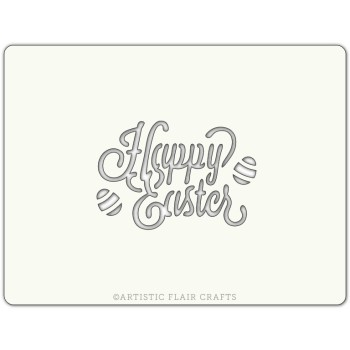 Pochoir pour pâtisseries et chocolats - motif Happy easter