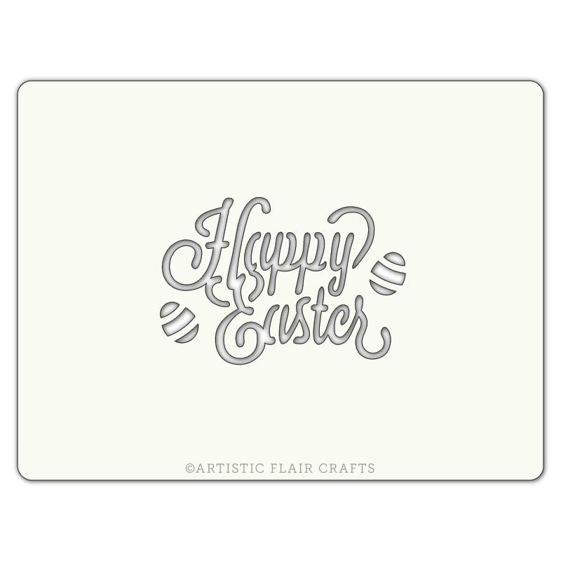 Pochoir pour pâtisseries et chocolats - motif Happy easter