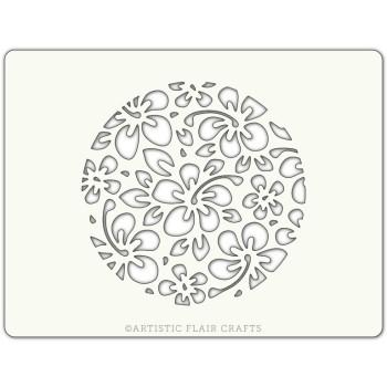 Pochoir pour pâtisseries et chocolats - motif fleur hibiscus