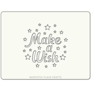 Pochoir pour pâtisseries et chocolats - motif Make a wish