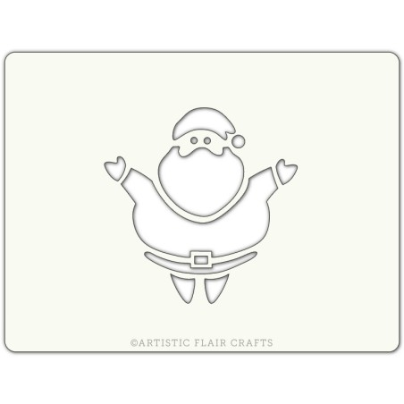 Pochoir pour pâtisseries et chocolats - motif Père Noël