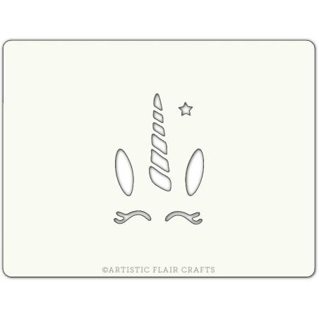 Pochoir pour pâtisseries et chocolats - motif licorne