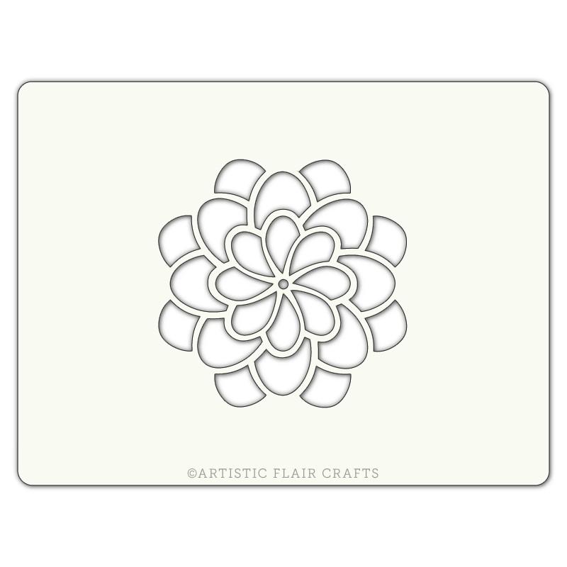 Pochoir pour pâtisseries et chocolats - motif fleur blossom