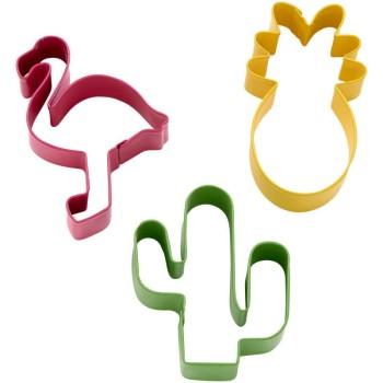 Emportes pièces métal cactus - ananas - flamant rose