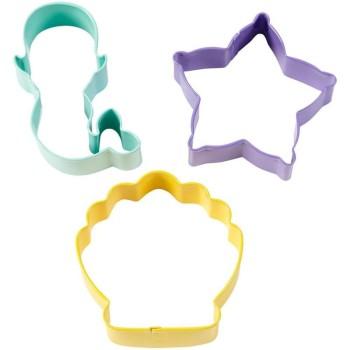 Emportes pièces métal coquillage - étoile de mer - sirène