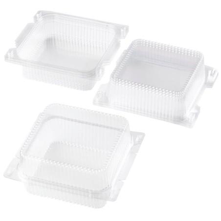 Boîte à gâteaux transparente - lot de 4