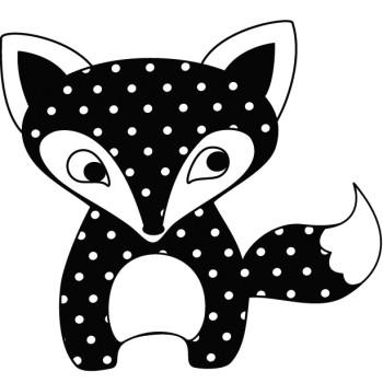Tampon scrapbooking en bois - Petit renard