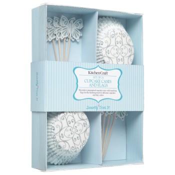 Kit de décoration cupcake - motif argent