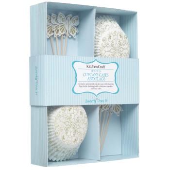 Kit de décoration cupcake - motif or