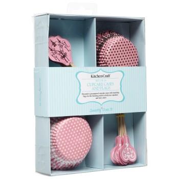 Kit de décoration cupcake - motif dentelle